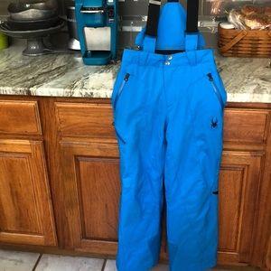 Spyder BLUE SKI PANTS /BIB BLUE SIZE 10 exce KIDS